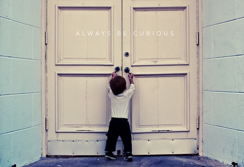 'Always be curious' image